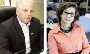 Pedro Alves, da Fieg, e Helenir Queiroz, da Acieg: redução do custo Brasil é uma das soluções para o País | Fotos: Fernando Leite/Jornal Opção