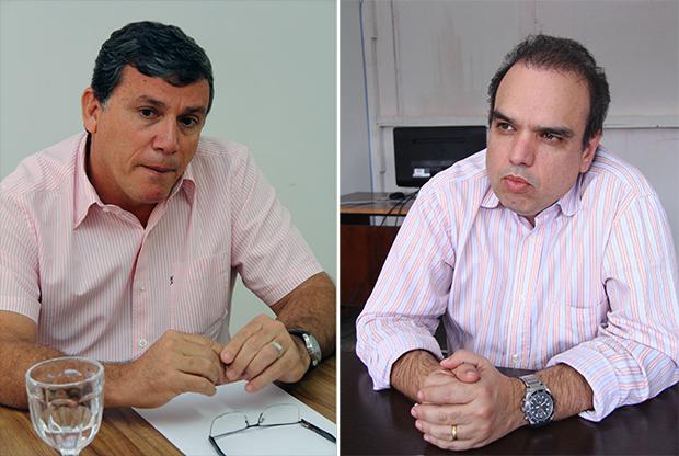 Ex-presidente da Comurg, Paulo de Tarso (à esquerda), é alvo de liminar da Justiça. Luciano de Castro foi afastado da Comurg por suspeitas de irregularidades