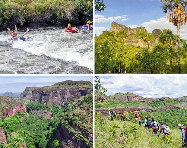 Território goiano é rico em cachoeiras, grutas, rios para rafting e rapel: grande potencialidade turística. Fotos: Nebias Turismo/Divulgação