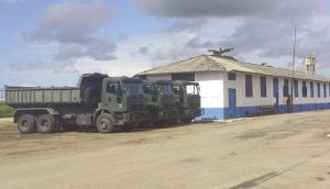 Destacamento do 11ª. BEC em Caravelas (BA): cerca de 300 militares trabalham nas obras da BR-418