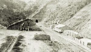 Construção de túnel de ferrovia no município de Lajes (SC)