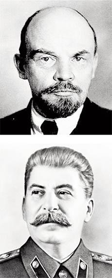Lênin e Stálin: os governos autoritários de ambos chocaram e geraram um humor corrosivo