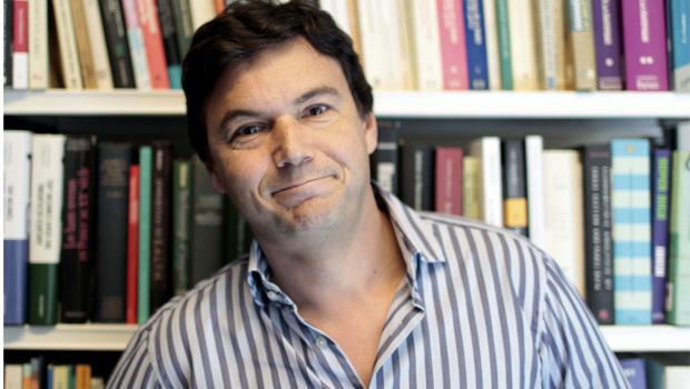 Legenda para internet:  Thomas Piketty: autor de um livro de economia importante, mas contestado