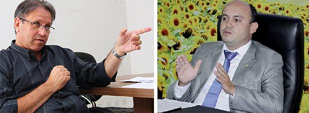 Peemedebista Marcelo Miranda e o governador Sandoval Cardoso, do SDD: os dois candidatos mais competitivos | Fotos: Fernando Leite/Jornal Opção e Koró Rocha