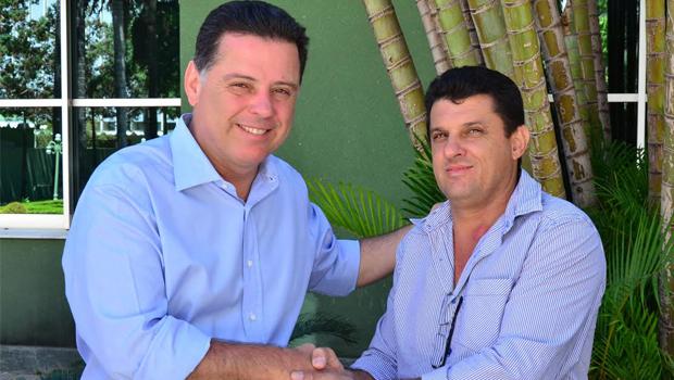 Marconi Perillo e o prefeito de Santa Terezinha de Goiás, Suélio José Lourenço (PMDB)