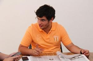 Michel Magul, um dos coordenadores do DCE da PUC-Goiás, também acompanhou Ivan Pimenta/ Foto: Fernando Leite/ Jornal Opção