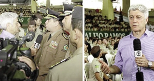 Repórter da TVGlobo, Caco Barcelos: programa denegriu a imagem e o trabalho que escolas militares realizam / Soldado Ludimila Luíza