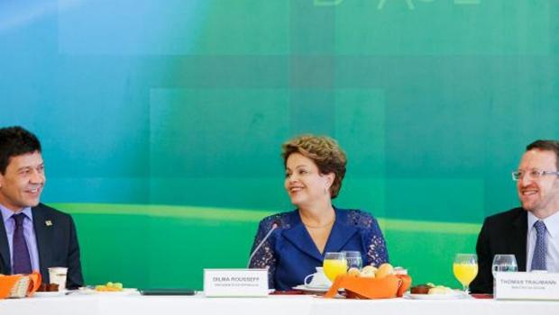 A presidente Dilma Rousseff, em café da manhã com jornalistas do Palácio do Planalto   Foto: Roberto Stuckert Filho/PR