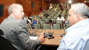 Entrevista no clube dos reporter politicos. foto humberto silva (4)