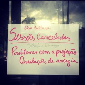 Falhas cancelaram sessões no ano passado | Foto: Reprodução/Facebook/Cine Cultura