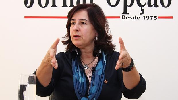 Marina Sant'Anna concede entrevista ao Jornal Opção | Foto: Fernando Leite