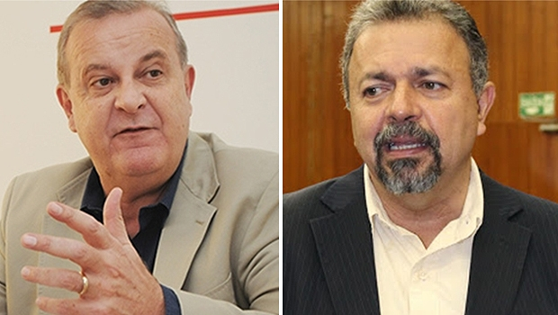 Paulo Garcia (à esquerda) foi elogiado por Elias Vaz | Fotos: Fernando Leite/Jornal Opção e Eduardo Nogueira/Câmara de Vereadores