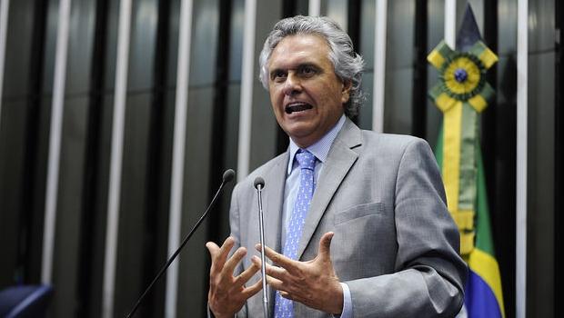 Senador Ronaldo Caiado (DEM) em discurso no Senado Federal na última quarta-feira ((4/2) |Foto: Waldemir Barreto/Agência Senado