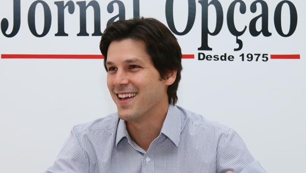 Daniel Vilela durante entrevista ao Jornal Opção em 2014 | Foto: Fernando Leite