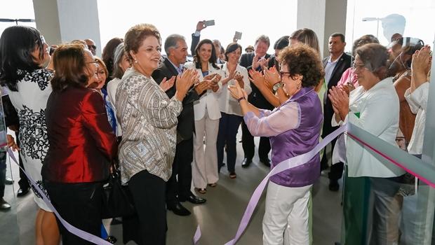 Em cerimônia de inauguração da primeira Casa da Mulher Brasileira, presidente Dilma Rousseff defende avanço nas leis que criminalizam a violência contra a mulher | Foto: Foto: Roberto Stuckert Filho/ PR