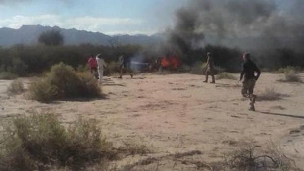 Foto do local onde ocorreu a tragédia foi publicada pelo jornal argentino Clarín | Foto: reprodução / Clarín / Cadena 3