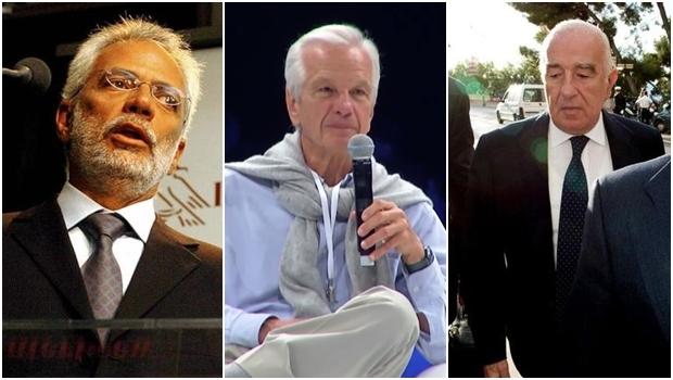 Os três brasileiros mais ricos, segundo a Forbes: Marcel Herrmann Telles, Jorge Paulo Lemann e Joseph Safra   Fotos: Forbes / reprodução