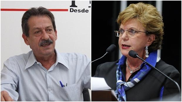 """Paulo de Jesus lamenta saída de Lúcia Vânia: """"Nós a queremos no partido""""   Fotos: Jornal Opção / Agência Senado"""