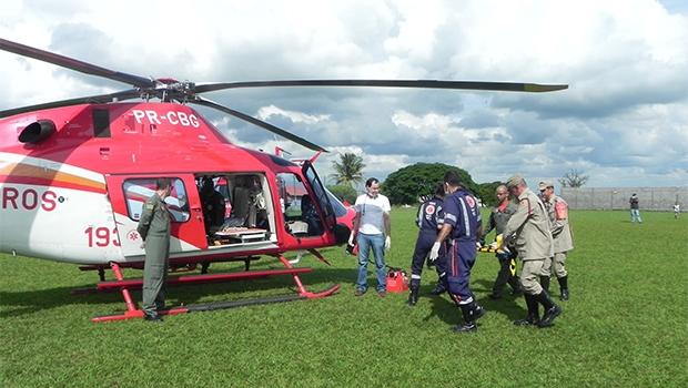 Bebê foi transportado de para Goiânia para receber atendimento | Foto: Corpo de Bombeiros