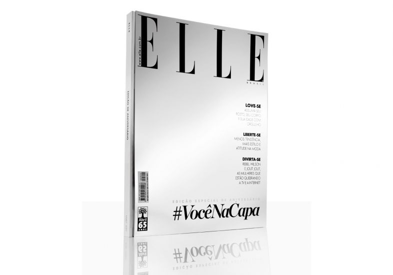 Capa comemorativa da Elle Brasil   Divulgação