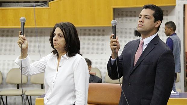 Dra. Cristina e Thiago Albernaz disputam CDTC | Foto: Alberto Maia/Câmara de Goiânia