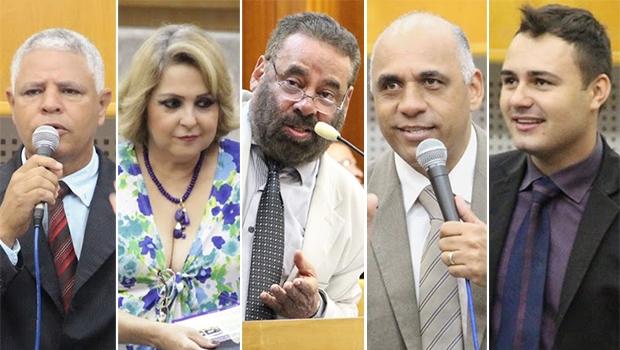 Cinco vereadores da base do Paço Municipal assinaram requerimento | Fotos: Alberto Maia/Câmara de Goiânia