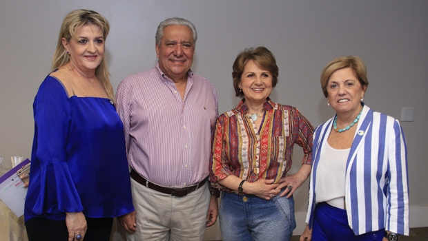 O presidente regional do PSD com as coordenadoras nacionais do PSD Mulher | Foto: Divulgação