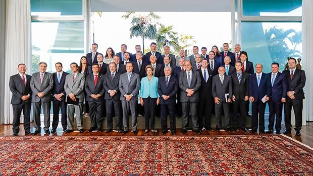 Presidente Dilma Rousseff durante reunião com governadores no Palácio do Alvorada | Foto: Foto: Ichiro Guerra/ PR