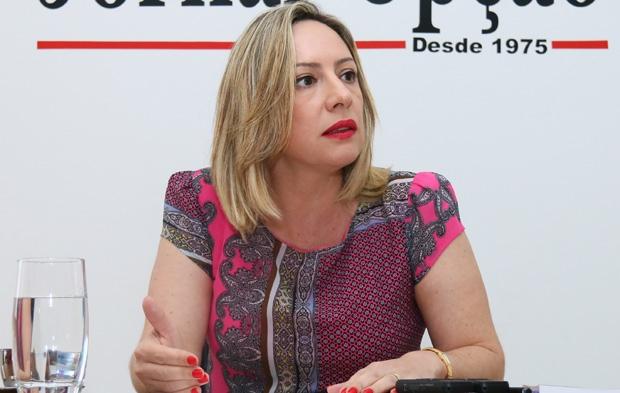 FOTO: Adriana Accorsi Legenda - Adriana Accorsi: deputada pode se mostrar forte candidata em Goiânia | Foto: Fernando Leite/ Jornal Opção