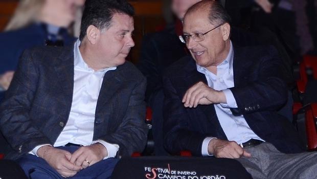 Governador Marconi Perillo assiste à apresentação em Campos do Jordão com o governador paulista, Geraldo Alckmin (PSDB) | Foto: Rodrigo Cabral
