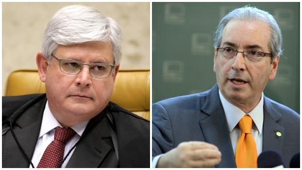 | Fotos: Janot (Fellipe Sampaio/ STF) e Cunha (Nilton Bastian/ Câmara)