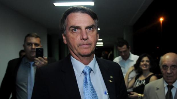 Deputado Jair Bolsonaro, em Goiânia, onde palestrou | Foto: Renan Accioly / Jornal Opção