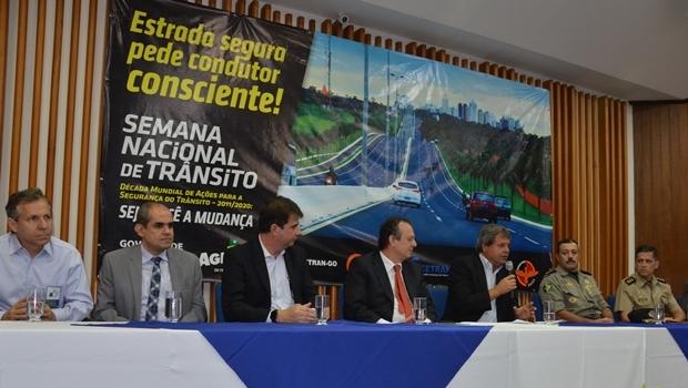Presidente Jayme Rincón discursa durante lançamento do evento | Foto: Marina Sousa / Agetop
