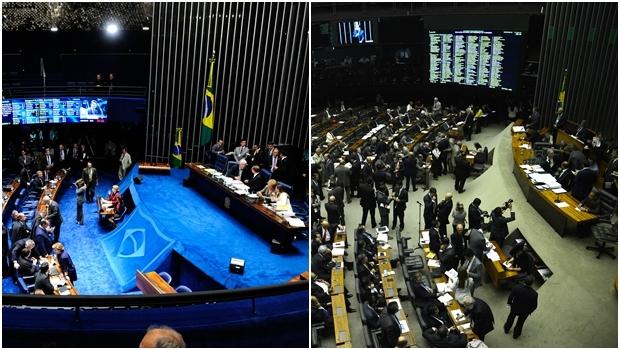 No Senado, uma coisa; Na Câmara, outra   Fotos: Jonas Pereiras e Wilson Dias