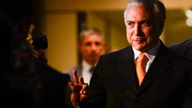 Vice-presidente Michel Temer, após reunião com a presidente Dilma Rousseff, no Palácio do Planalto | Fabio Rodrigues Pozzebom/Agência Brasil