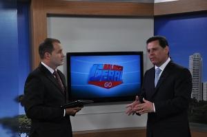 Oloares Ferreira com Marconi Perillo