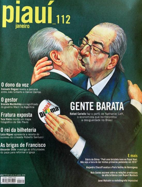 Ilustração tem inspiração em imagem do beijo entre líderes comunistas europeus no século XX | Imagem: Reprodução