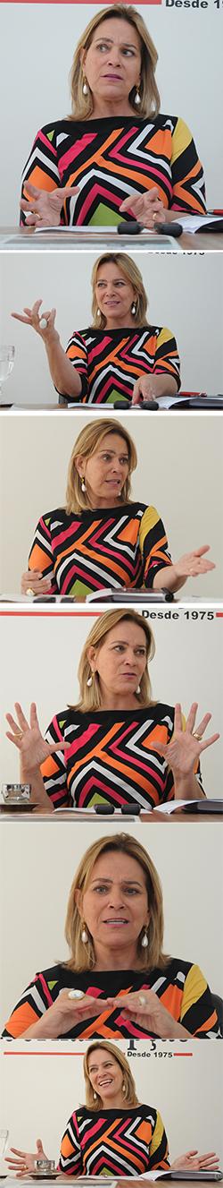 Na foto Leda Borges, Secretária Cidadã