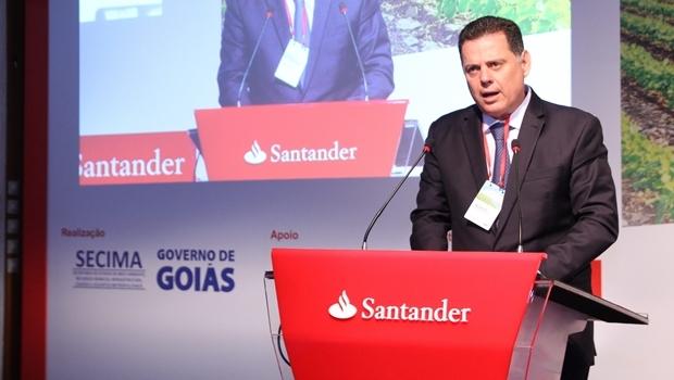 Governador Marconi Perillo (PSDB) durante cerimônia de abertura do Seminário Agronegócios e Energias Renováveis