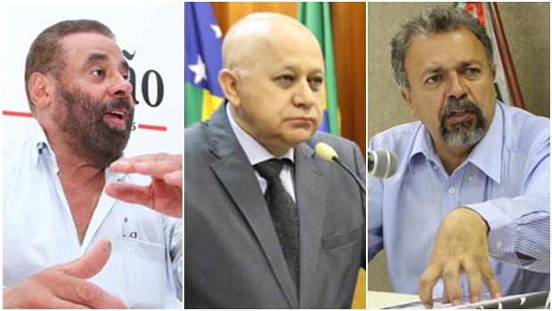 Vereadores Paulo Magalhães (SD), Djalma Araújo (Rede) e Elias Vaz (PSB) | Fotos: Jornal Opção e Ascom da Câmara