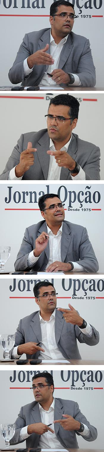 Na foto entrevista Olmo Xavier