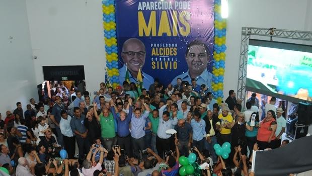 Evento que confirmou a candidatura de Professor Alcides e Coronel Sílvio | Foto: divulgação