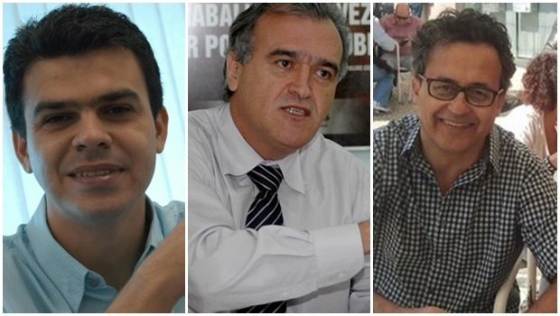 Gean Carvalho, Jorcelino Braga e Alberto Araújo