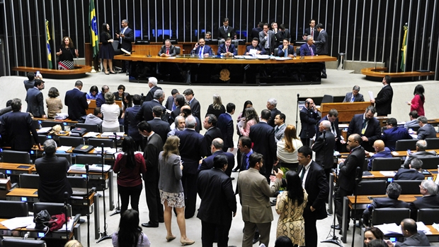 Deputados não chegaram a um acordo sobre o projeto na sessão desta terça-feira   Foto: Luis Macedo/Câmara dos Deputados