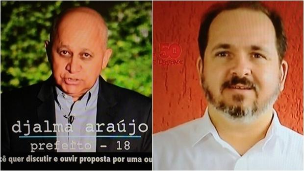 Com pouco tempo de TV, Djalma Araújo e Flávio Sofiati tiveram que ser rápidos e claros   Foto: Reprodução