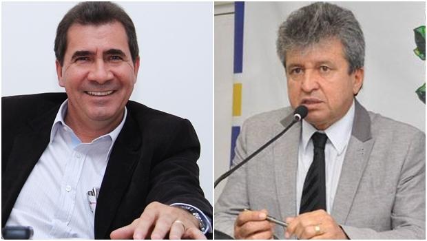 Prefeito João Gomes e pré-candidato a vice-prefeito, Eli Rosa   Fotos: Fernando Leite/ Câmara Municipal de Anápolis