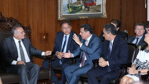 Governadores das regiões Centro-Oeste, Norte e Nordeste se reúnem com presidente do Senado | Foto: Henrique Luiz/GovGO