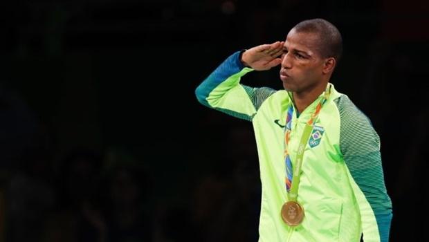 Robson Conceição, pugilista, foi um dos atletas militares a levar ouro nas Olimpíadas   Foto: Fernando Frazão/ Agência Brasil