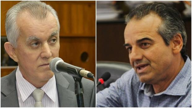 Victor Priori e o prefeito Humberto Machado: DEM e PMDB juntos em Jataí. Ou nem tanto   Fotos: reprodução/ Alego/ Prefeitura de Jataí