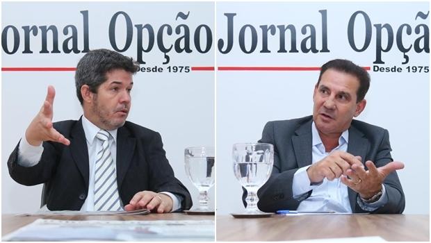 Waldir Soares está em segundo lugar, mas perdendo votos, enquanto Vanderlan Cardoso vai crescendo aos poucos | Fotos: Fernando Leite/ Jornal Opção